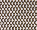Expanded Steel Grille Mesh - Gold Powder Coated - 1220mm x 914mm x 1mm